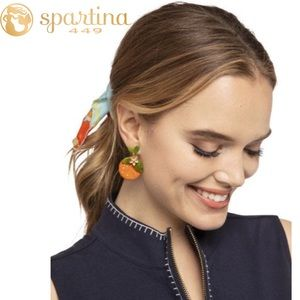 Spartina 449 Orange Beaded Earrings
